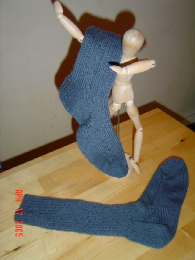Cable Rib Socks